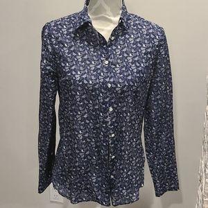 JCrew silk blend button up blouse